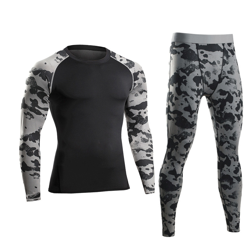Obliging Men Pro Compression Long Johns Fitness Winter Quick Dry Gymming Male Autumn Sporting Sets Runs Workout Thermal Underwear Ma4648 A Great Variety Of Goods Running Sets Running