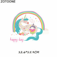 Patches Unicorn Flamingos Patch Iron On Transfer Flower Easy Print By Household Irons Parches Ropa T-Shirt Diy Decoration C