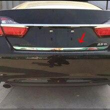 Для Toyota Aurion Altis Camry Азиатский 2012- нержавеющая сталь Задняя Крышка багажника отделка хвостовика ворота литье стикер для укладки 1 шт
