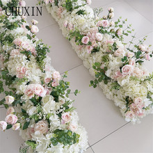 New wedding road lead rose flower row wedding sign in stage guide artificial flower home holiday celebration decoration