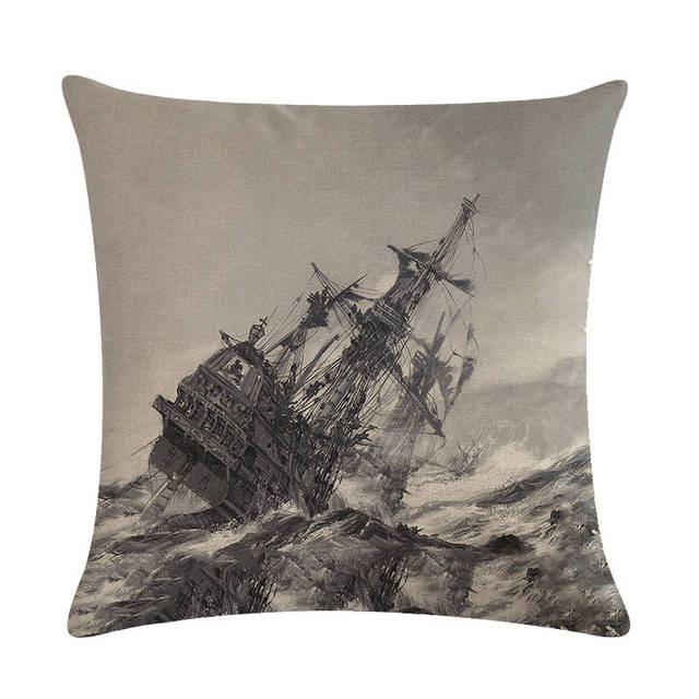 Old Fashioned Ship Cushion Covers  4