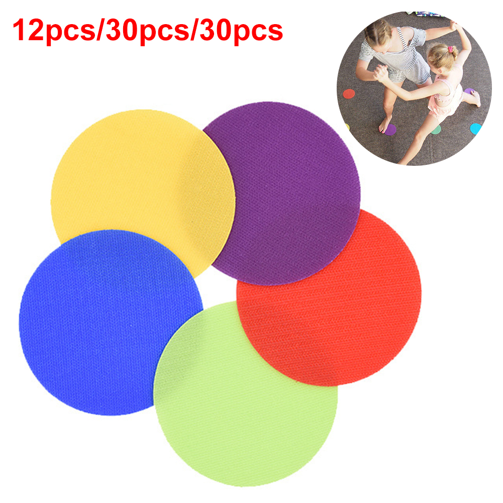 6 Colors Round Flat Children Game Sports Preschool Magic Sticker Circles Spot Markers Sitting Training Tag Toys Classroom Floor