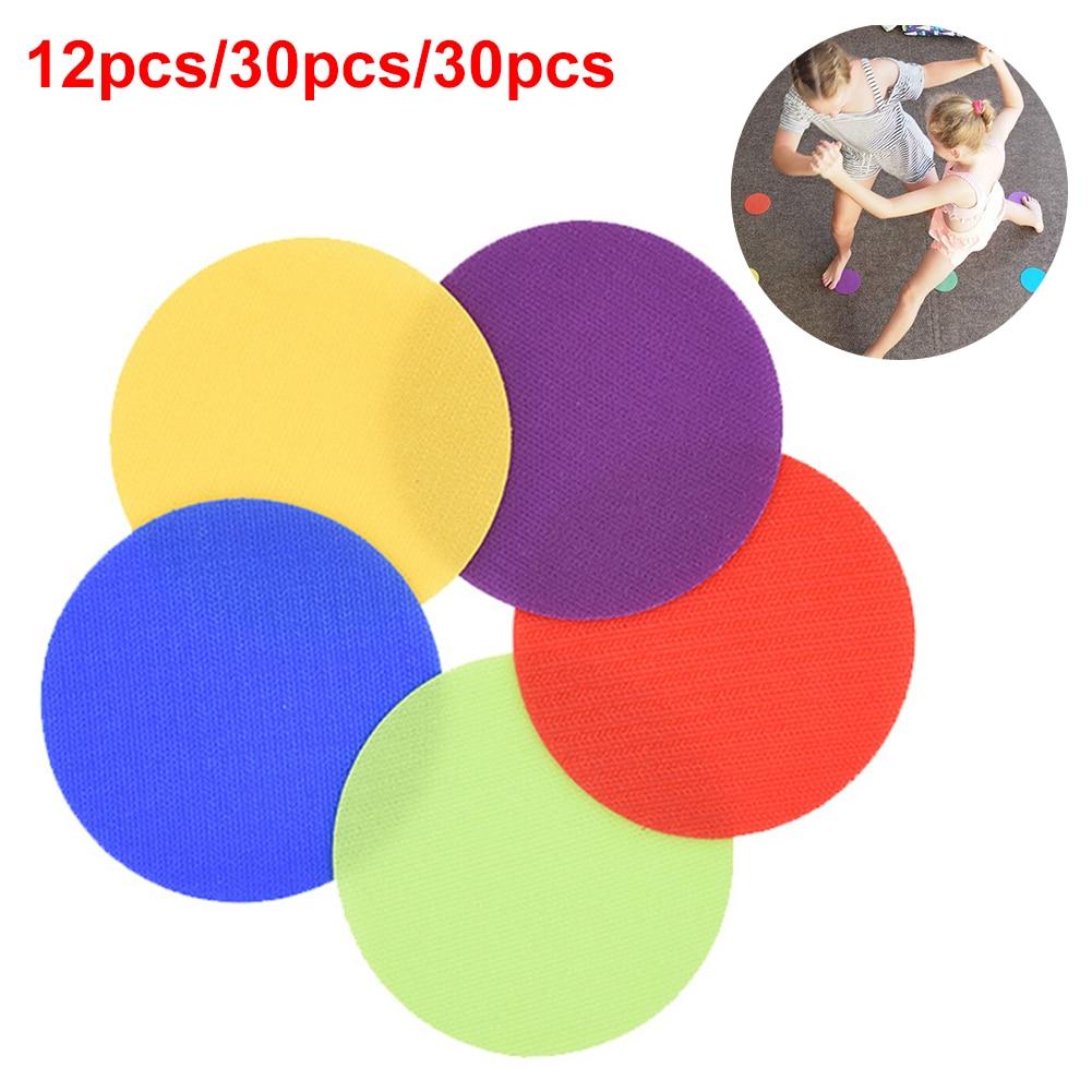 6 Colors Round Flat Children Game Sports Preschool Magic Sticker Circles Spot Markers Sitting Training Tag Toys Classroom Floor