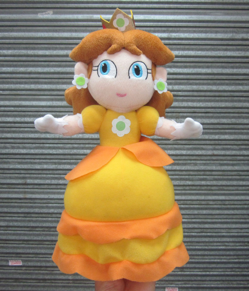 New 12 Anime Super Mario Peach Cute Plush Soft Doll Toy free shipping with EMS