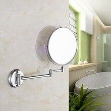 Складное зеркало косметическое круглое зеркало в ванную комнату настенное крепление тройное расширение ванной Двухстороннее зеркало LO611511