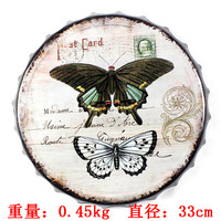 New arrival tin sign Colorful butterfly Vintage Metal Painting Beer cap Bar pub Wallpaper Decor Retro Mural Poster Craft
