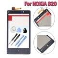 Lumia 820 original toque substituição digitador da tela com frame para nokia lumia 820 n820 lcd sensor de janela de vidro da tampa + ferramentas