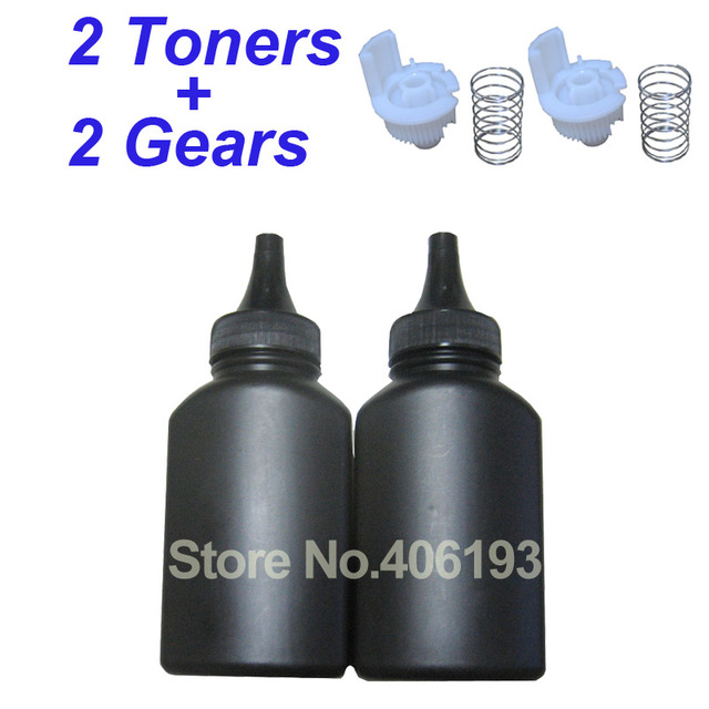 US $8 8 |2 Toners + 2 Gears CT202330 refill toner powder for Fuji Xerox  M225Z P225DW P265DW M225Z M225DW P225D P265DW M265Z -in Toner Powder from
