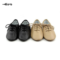 Ladies Tan or Black Split Sole Lace Up Jazz Shoes NEW Size 5 14