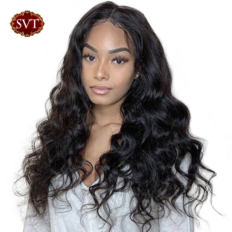 SVT Remy Body Wave Lace Front Wig 13X4 Pre Plucked Brazilian Lace Front Wigs For Black