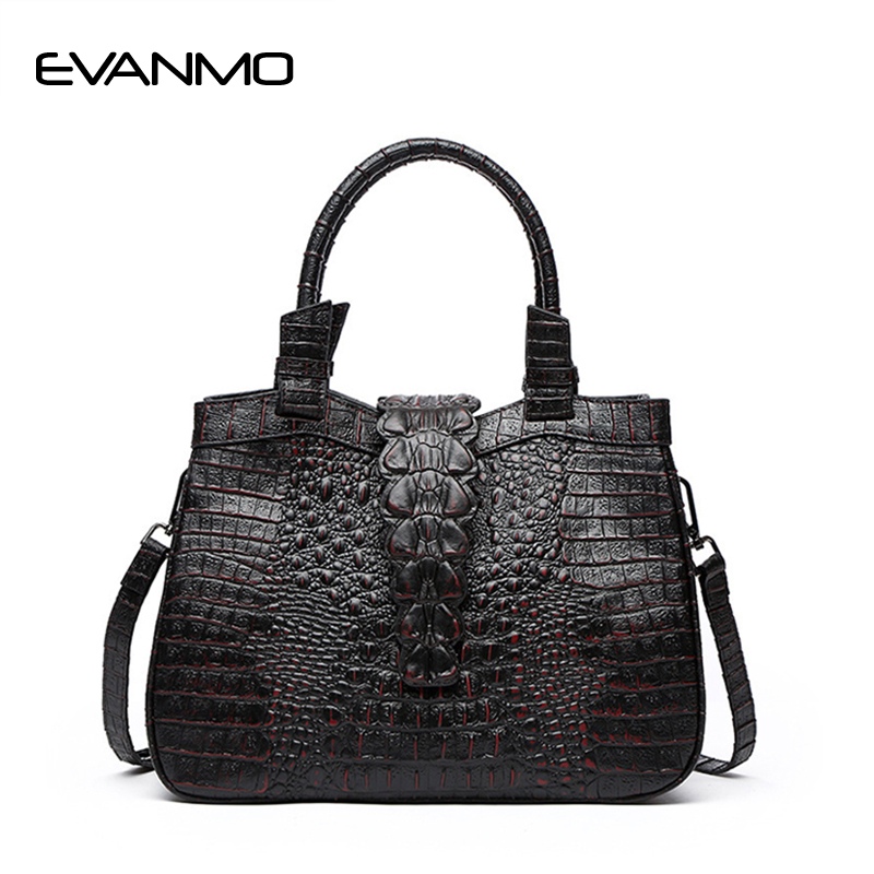 Luxury Crocodile Pattern Handbag High Quality Women Designer Bags Lady Vintage Women's Flap Crossbody Bag Female Bolsas Feminina vintage women bag high quality crossbody bags luxury designer large messenger bags famous brands female shoulder bag tassen flap