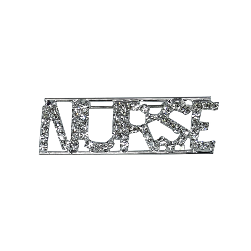 Custom Professions&Jobs Theme Crystal Lapel Pin NURSE Word Brooch Gift Wholesale 6PCS/LOT FREE SHIPPING