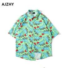 2019 原宿シャツストリートファッションアロハシャツ プリントヒップホップシャツ夏半袖 3d