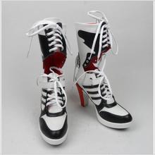 00 Harley Quinn DC Comando Suicida Botas Tacones Zapatos de Cosplay Película Disfraces de Halloween