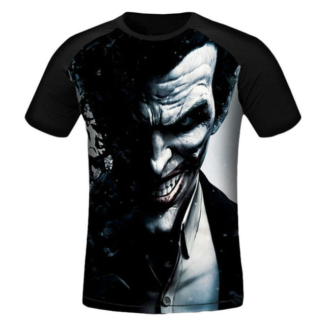 514455ce9 Summer Hot 3D Printed T-shirts New Fashion Man T Shirt Joker Evil Smile Graphic  Tees Creative Tops Short Sleeve O-neck Clothing