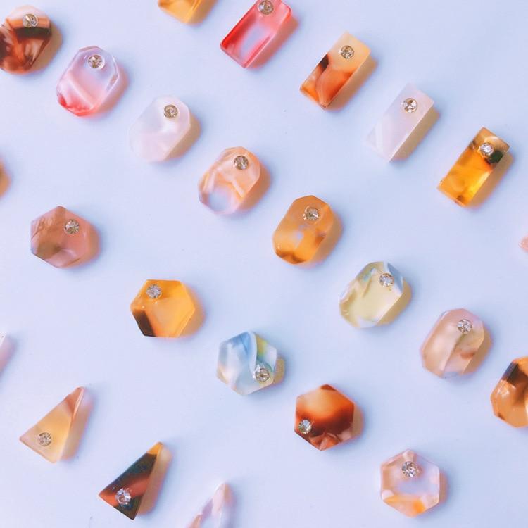 20pcs/lot 3D Diamond Amber Nail Art Decoration Japanese