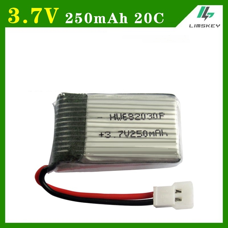 3.7V 250mAH 2pcs/lot Lipo Battery For Syma X11C X701 U830 FY310 Remote Control Aircraft Aircraft Parts 3.7V 250mA XH Plug 682030
