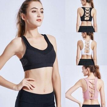 743eae579360 Sujetador deportivo de Yoga para mujer, sujetador hueco para ejercicio,  gimnasio, Racerback, sujetador YS-BUY