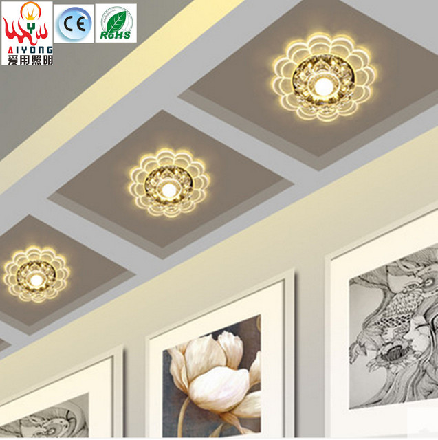 Crystal led spots kleur gangpad 5 W gang veranda woonkamer downlight ...