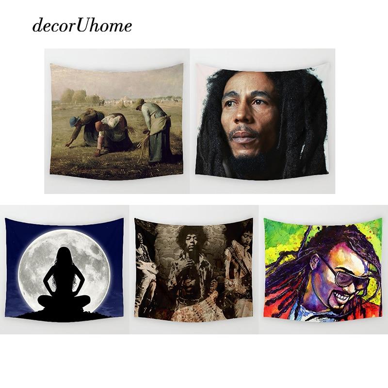 Decoruhome Nordic Bob Marley Wall Decoration Beach Towels