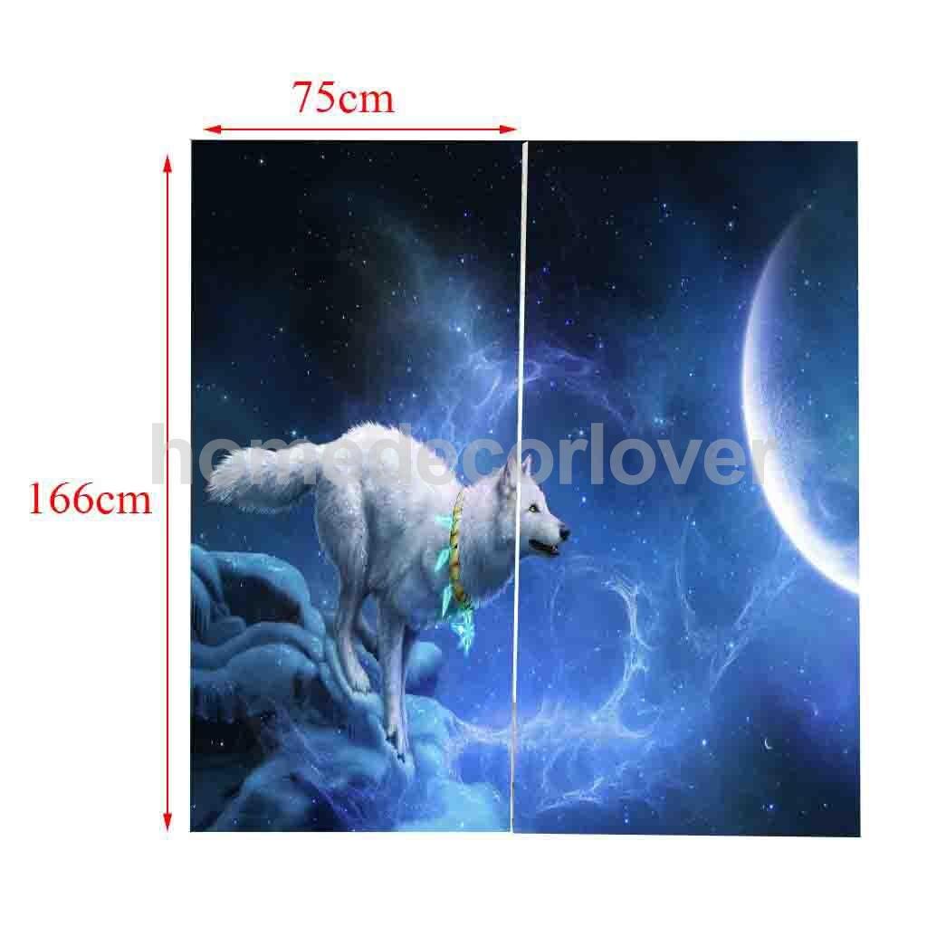 2 Panels Blackout Curtains Panel Window Bath Drape, Thermal ...