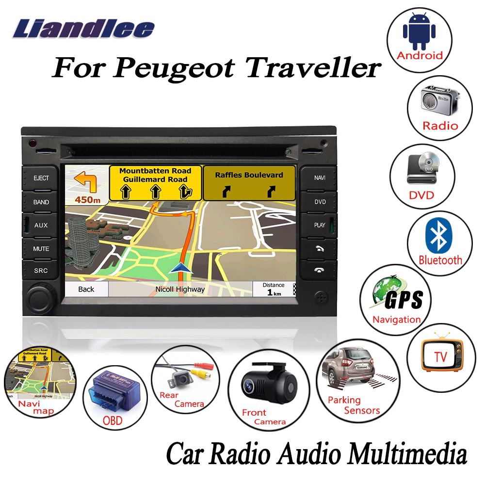 Liandlee For Peugeot Traveller 2007~2015 Android Car Radio CD DVD Player GPS Navi Nav Navigation Maps Camera OBD TV HD Screen