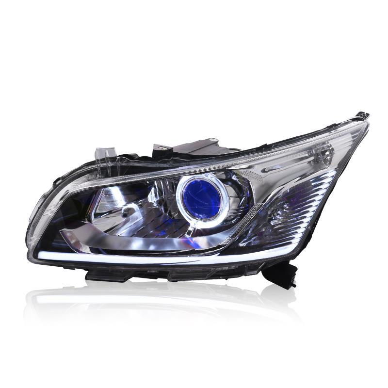все цены на Cob Automovil Daytime Running Neblineros Para Auto Led Drl Front Fog Headlights Rear Car Lights Assembly For Chevrolet Cruze