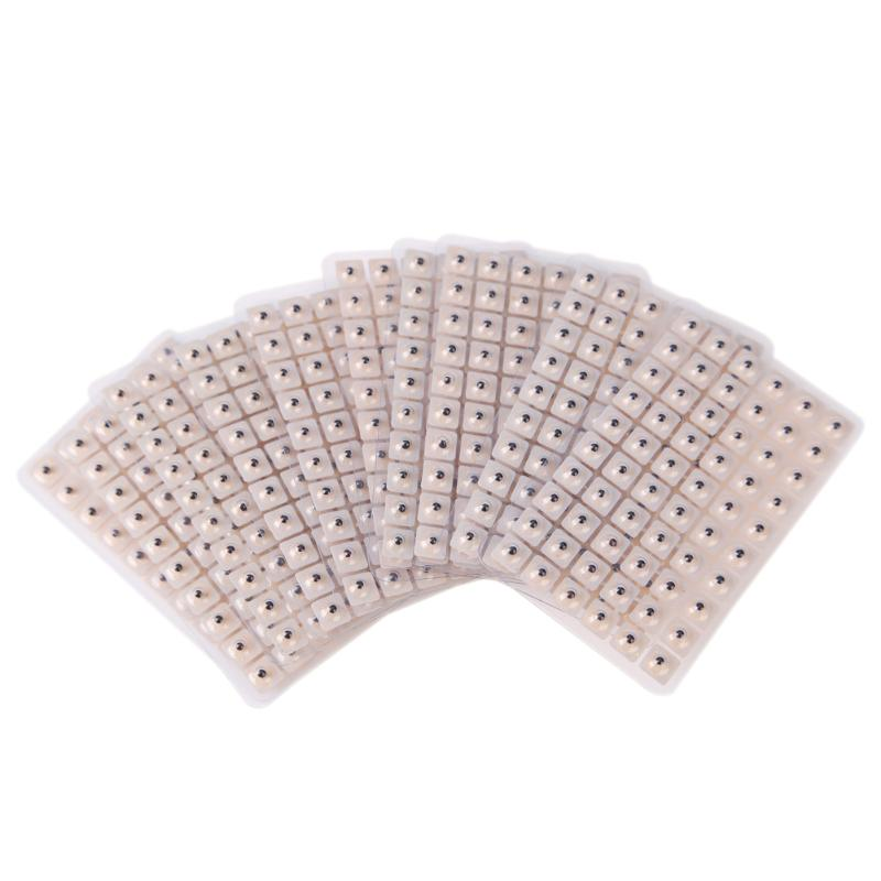 600pcs Ear Seeds Acupuncture Needle Ear Seeds Vaccaria Seeds Ear Massage Stickers Auriculotherapy