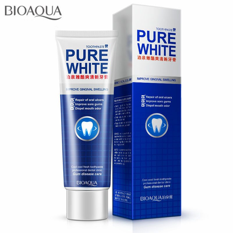 BIOAQUA Herbal Mint Fresh Toothpaste Whitening Remove Yellow Stains Halitosis Plaque Reduce Gingivitis Dentifrice Clean Dental crest pro health healthy fresh toothpaste 4 7 8 oz