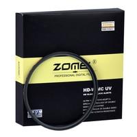 Zomei HD 18 layer Ultra Slim MC UV Filter Waterproof Oilproof Scratch MCUV Filter For Canon Nikon Sony Pentax Fuji Lens