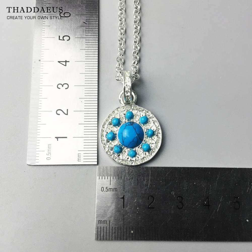Necklace Blue Ornaments,2017 Ts Trendy 925 Sterling Silver Link Chain Fashion Jewelry Thomas Bijoux Gift For Women Friend