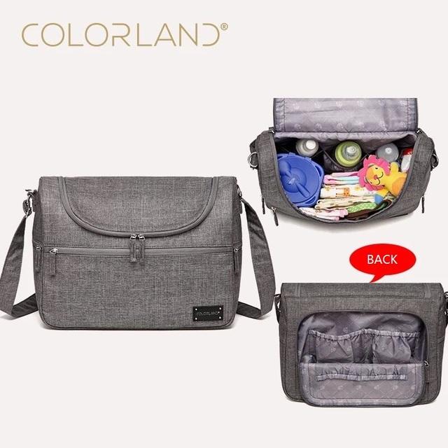 Colorland Bebé Marca Bolsas de Mensajero Gran Diseño de Moda Bolsas de Pañales Para Mamá Bolsa de Pañales Organizador Bolsa de La Madre Maternidad Cochecito