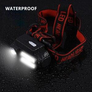 Image 4 - Super Bright LED Headlamp COB Work Light 4 Lighting Mode Waterproof Headlight Powered By 18650 Battery suit for Night Lighting