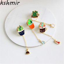 Fashion jewelry wholesale drip fashion cute female meaty plant brooches neckties
