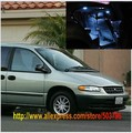 Free Shipping 16pcs/lot White Interior LED Lights For Chrysler Plymouth Voyager 1996-2000