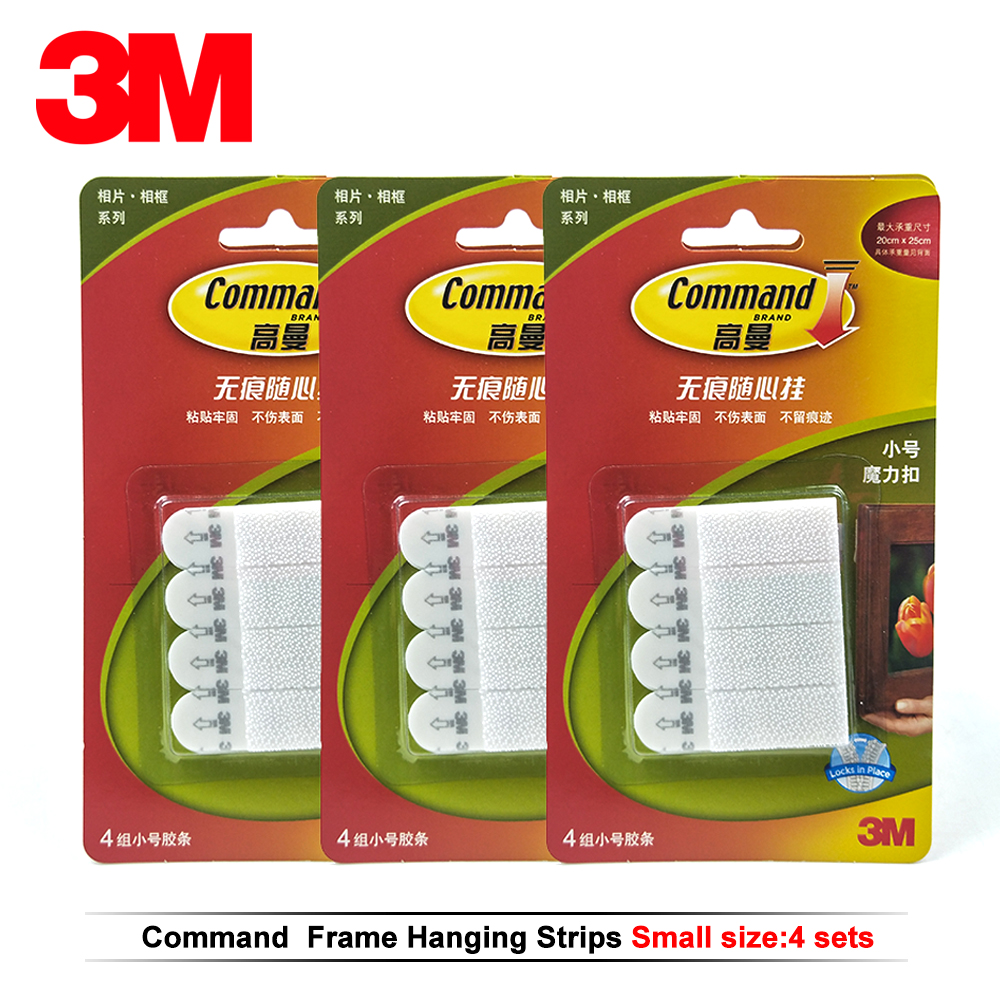 16pcs Small 3M Command Picture Hanging Strips Command Damage-Free  Magic Strip Command Inter Locking Faster