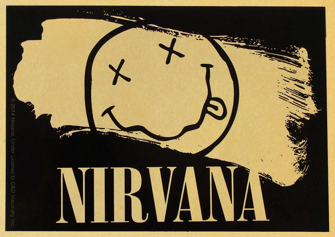 Vintage Retro kurt cobain nirvana MUSIC Bar Restaurant Home ...