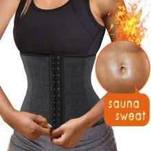 NINGMI Gym Shirt Waist Trainer Cincher Corset Postpartum Neoprene Sauna Brace Slimming Strap Body Shaper Modeling Belt Shapewear