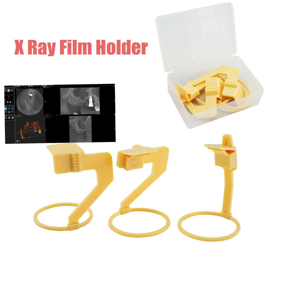 1 Set (3 Pcs) Gigi Gunakan Digital X Ray Film Sensor Positioner Holder Plastik