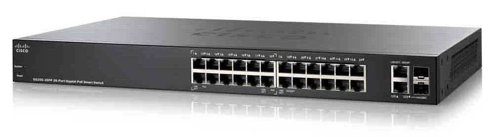 SG200-26FP-CN 24-port Full Gigabit Switch POE Power Supply