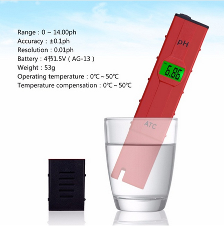 yieryi aquarium PH meter with high accuracy temperature compensation ATC Portable backlight pH meter PH Tester 0-14PH
