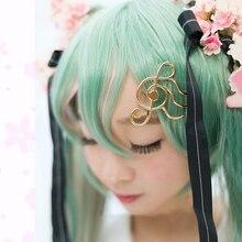 Sakura Miku Cosplay horquilla VOCALOID Hatsune Miku Cos Headwear Metal Anime Cos accesorios