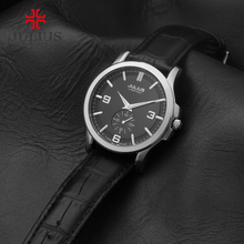 JULIUS Logo Classic Business Watch For Men Elegant Limited Edition Designer Whatch Top Brand Luxury Male Clock Leather JAL-038