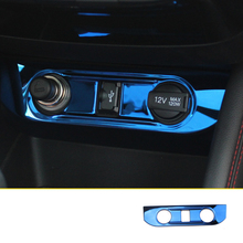 lsrtw2017 stainless steel car USB charge panel trims decoration for changan cs55 2017 2018 2019