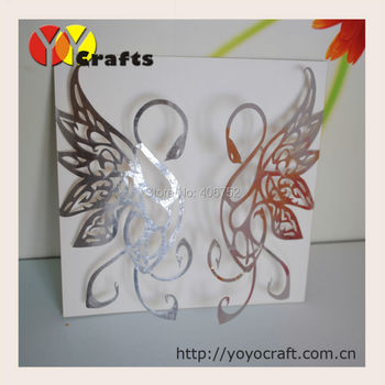 Wedding invitation card,wedding cards,Swan design,include envelope and inner paper,seals