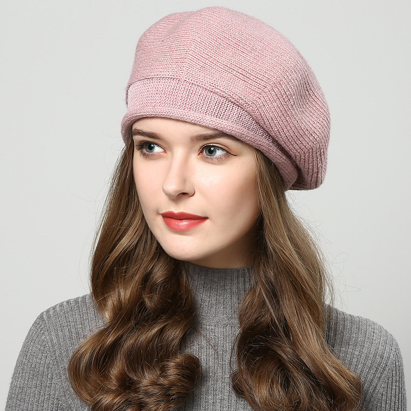 1f9a44e1c JIYOUOU autumn and winter 2018 new fashion hat ladies warm wool beret  Korean wild casual woolen knitted ear painter hat