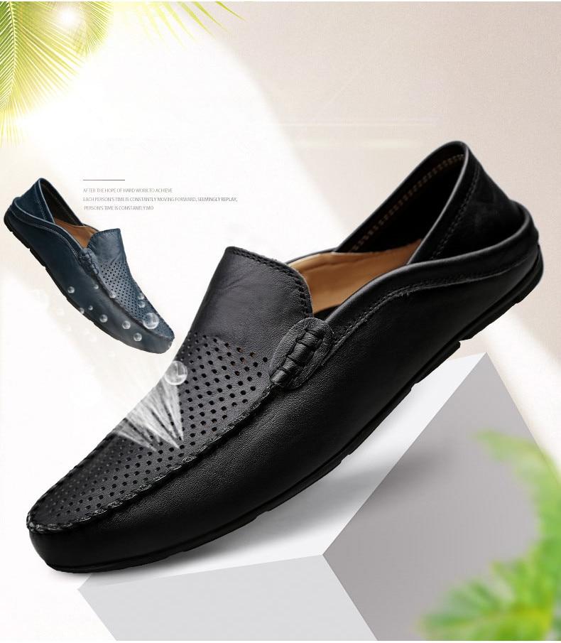 HTB129J9fkUmBKNjSZFOq6yb2XXaw Italian Mens Shoes Casual Luxury Brand Summer Men Loafers Genuine Leather Moccasins Light Breathable Slip on Boat Shoes JKPUDUN