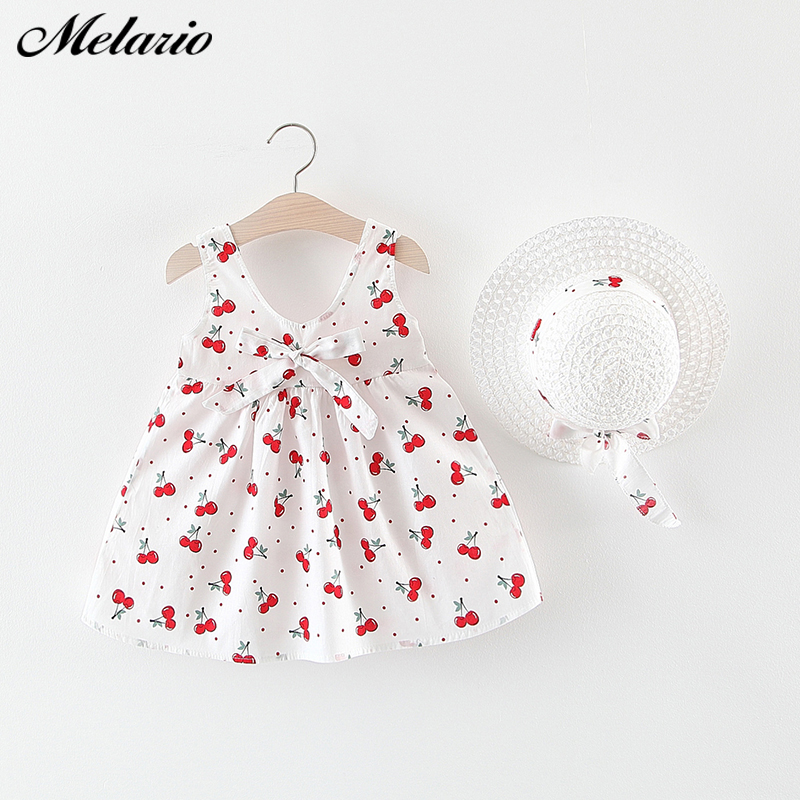 Melario Baby Dress Newborn Toddler Girls Summer Tutu Dress Kids Baby Girl Printing Princess Dresses Sundress