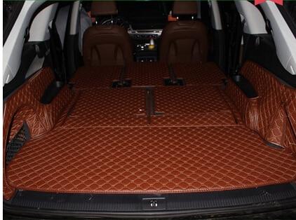Good mats! Full set trunk mats for New Audi Q7 7seats 2017 waterproof cargo liner boot carpets ...