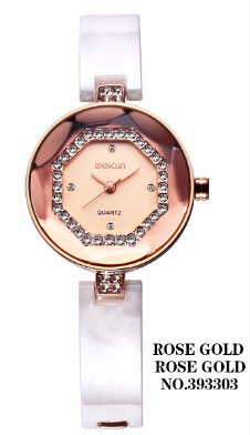 WEIQIN 2017 Hot  Fashion Luxury Diamond Quartz Women Watches  Saat Rose Gold Dial Shell Bracelet Watch Women Ladies Watch weiqin w3224 shell dial ultra thin ceramic women quartz watch